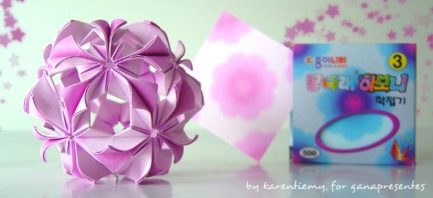arabesque karen tiemy kusudama origami