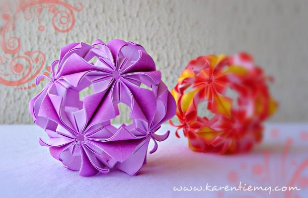 arabesque kusudama karen tiemy origami
