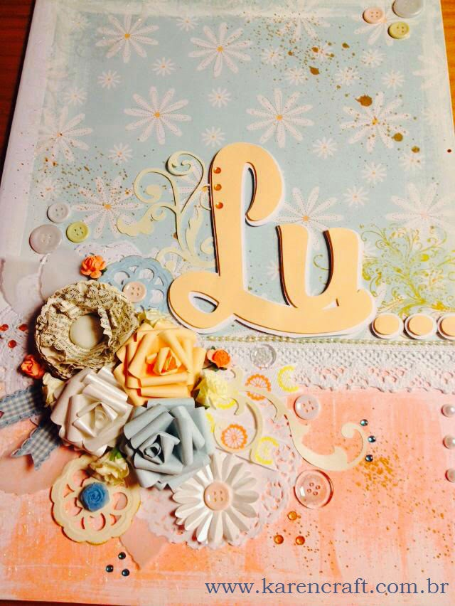 giant card a3 scrapbooking shabby chic