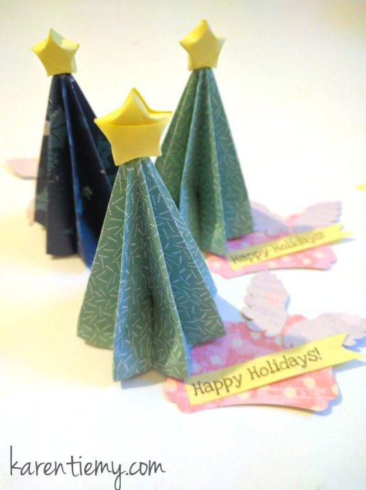 origami christmas tree 2