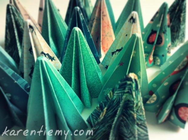 origami christmas tree 3