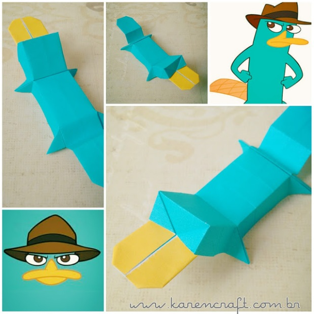 perry the platypus origami diagram