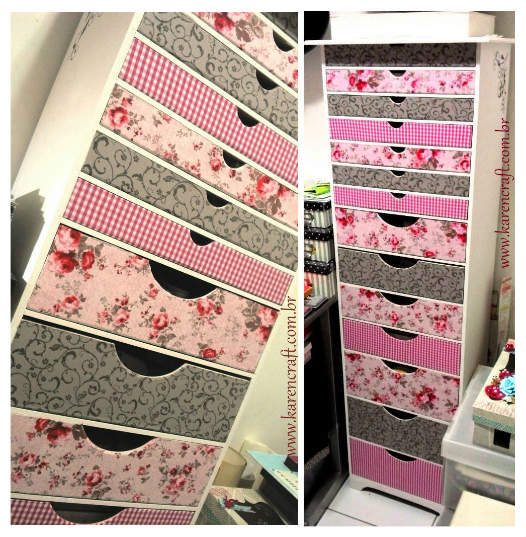 shabby chic diy craft vintage ideas floral drawer organizer