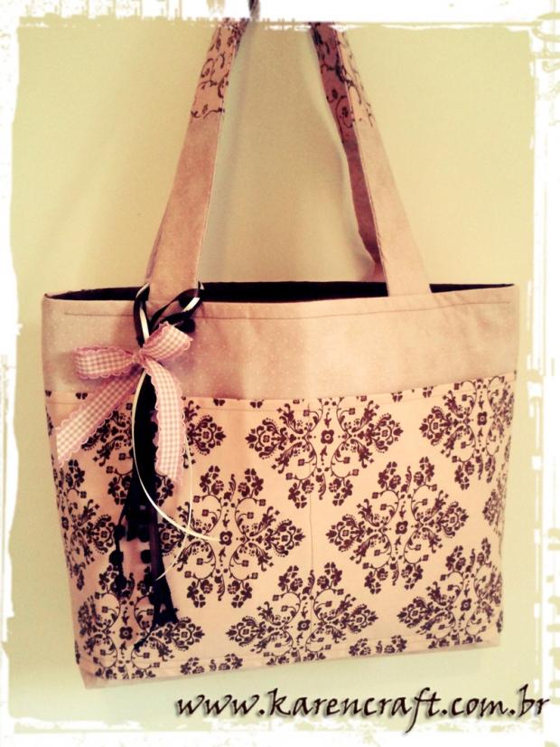 karen tiemy bag vintage rosa pink brown shabby chic romantic