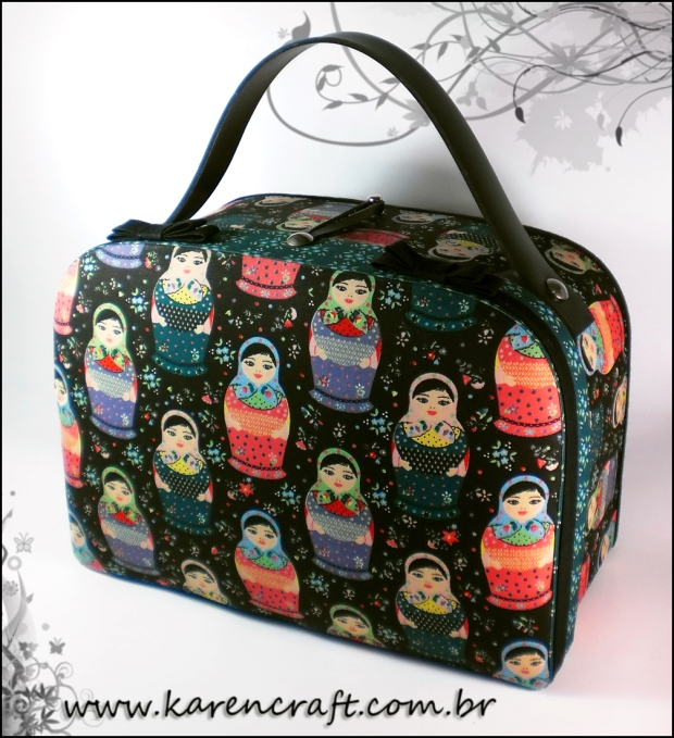 matrioska bag fabric purse cute