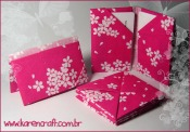 origami em tecido fabric origami DIY craft craft oriuno carteira wallet bookmark card holder porta cartao karen tiemy handmade