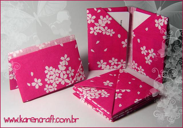 origami em tecido fabric origami DIY craft craft oriuno carteira wallet bookmark card holder porta cartao karen tiemy handmade
