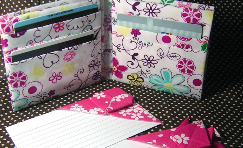 Fabric Origami Ideas – Wallet, card holder, bookmarker and ... - photo#14