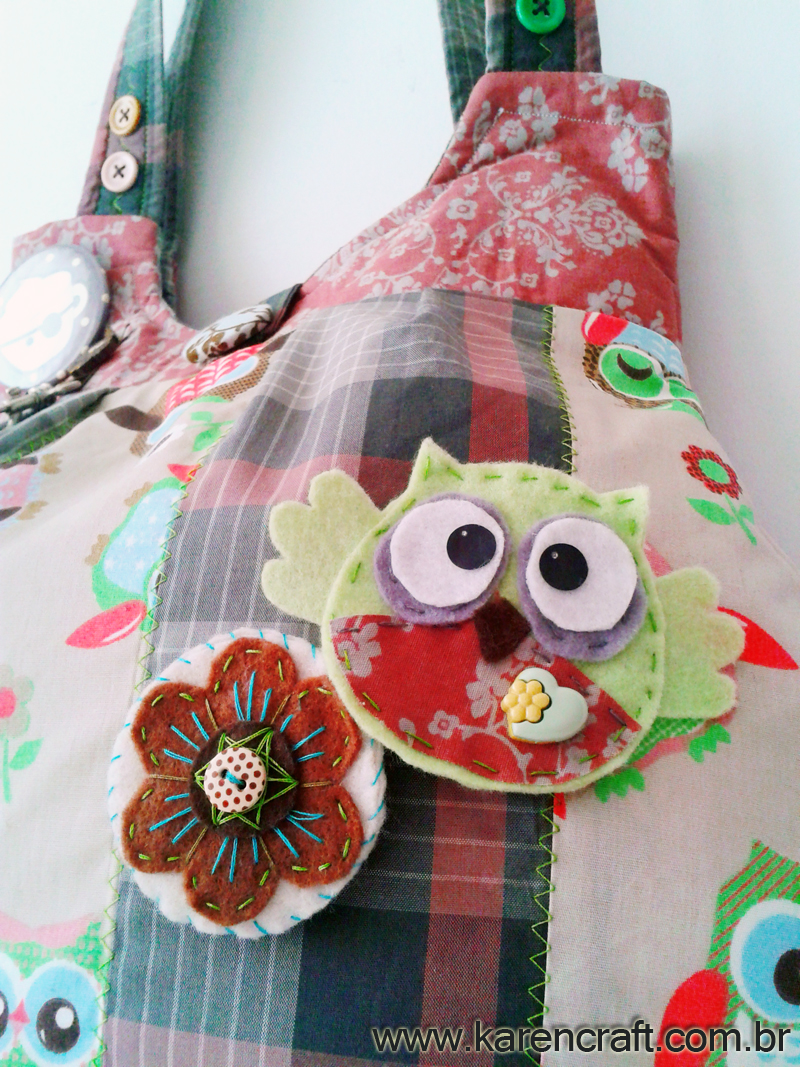 patchwork bag diy owl simplicity karen tiemy project sewing ideas