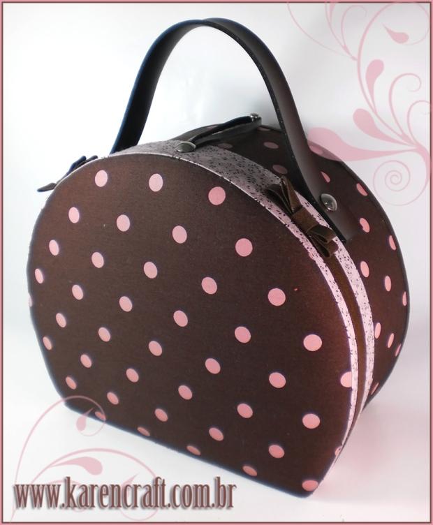 brown pink karen tiemy bag handbag hat travel case cute kawaii lolita