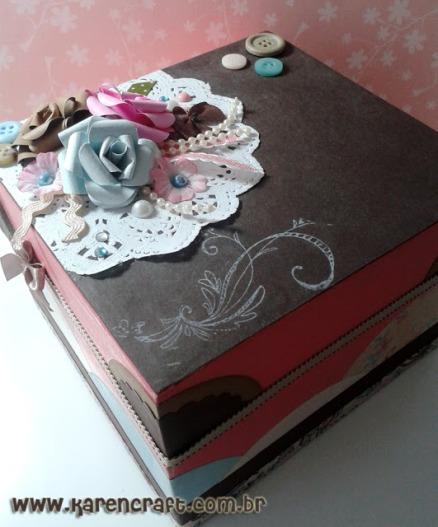 vintage wooden box diy ideas scrapbooking craft shabby chic (12)