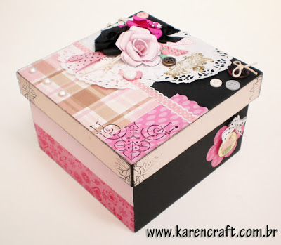 Vintage Wooden Box Diy Ideas Scrapbooking Craft Shabby Chic 14