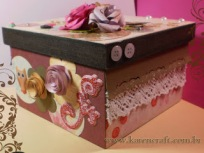 vintage wooden box diy ideas scrapbooking craft shabby chic (17)