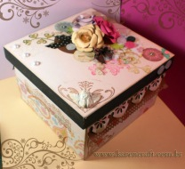 vintage wooden box diy ideas scrapbooking craft shabby chic