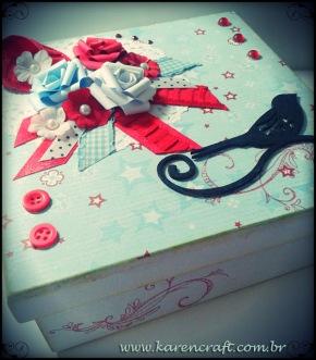 vintage wooden box diy ideas scrapbooking craft shabby chic (3)