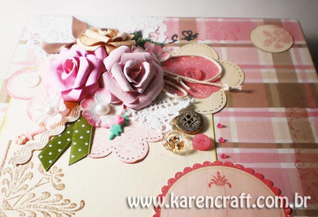 Vintage Wooden Box Diy Ideas Scrapbooking Craft Shabby Chic Flowers