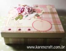vintage wooden box diy ideas scrapbooking craft shabby chic (7)