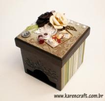 vintage wooden box diy ideas scrapbooking craft shabby chic (8)