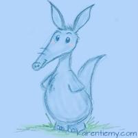 aardwark karen tiemy cute animal drawing kawaii illustration cartoon digital sketches 2