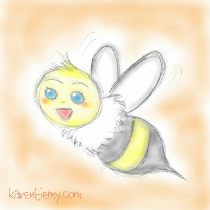 bee karen tiemy cute animal drawing kawaii illustration cartoon digital sketches 2