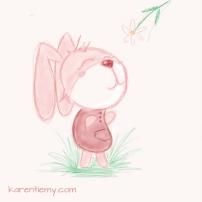 bunny karen tiemy cute animal drawing kawaii illustration cartoon digital sketches 2