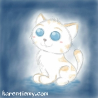 cat karen tiemy cute animal drawing kawaii illustration cartoon digital sketches 2