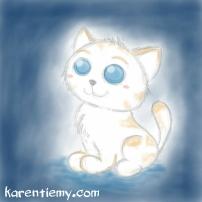 cat karen tiemy cute animal drawing kawaii illustration cartoon digital sketches 2