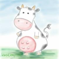cow karen tiemy cute animal drawing kawaii illustration cartoon digital sketches 2