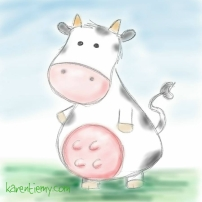 cow karen tiemy cute animal drawing kawaii illustration cartoon digital sketches 2