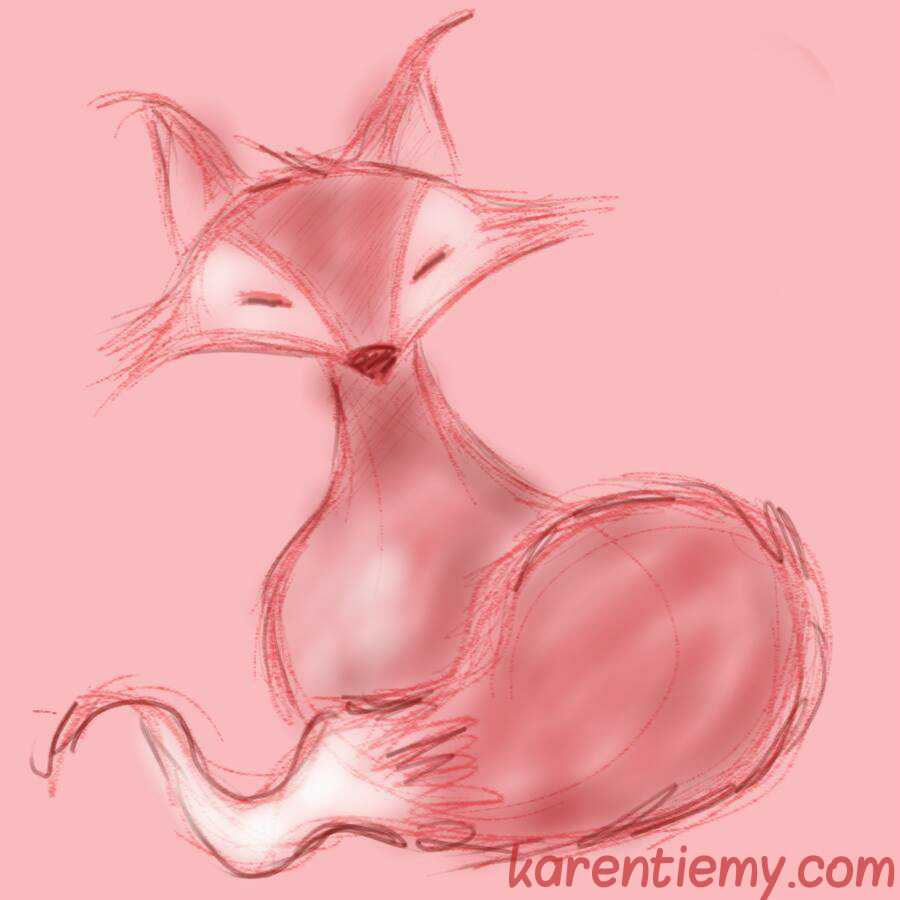 fox karen tiemy cute animal drawing kawaii illustration cartoon digital sketches 2