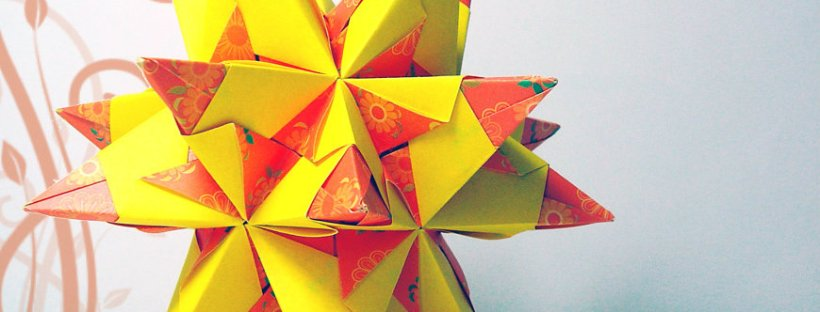 Modular Origami - spiky balls and stellated polyhedra models ... | 312x820