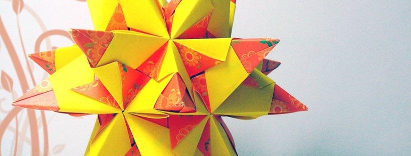 Kusudama Bascetta Star – Diagram – Karen Tiemy Ohara on