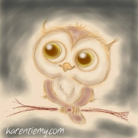 owl karen tiemy cute animal drawing kawaii illustration cartoon digital sketches 2
