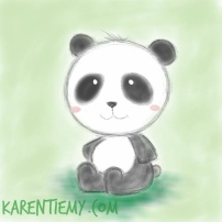 panda karen tiemy cute animal drawing kawaii illustration cartoon digital sketches 2