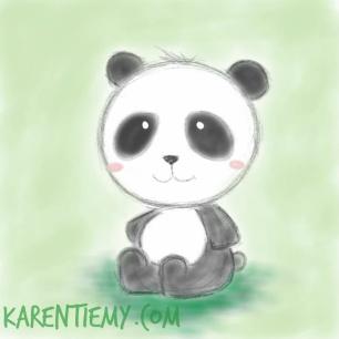 panda karen tiemy cute animal drawing kawaii illustration cartoon digital sketches 2