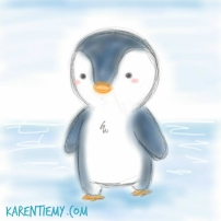 penguin karen tiemy cute animal drawing kawaii illustration cartoon digital sketches 2
