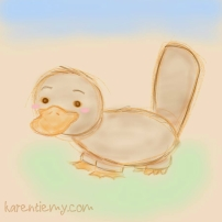 platypus karen tiemy cute animal drawing kawaii illustration cartoon digital sketches 2
