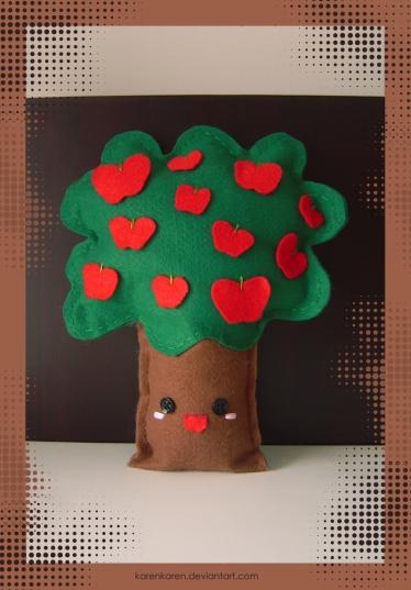 plushies softies felt projects stuffed dolls toy handmade sewing diy soft snuggly karen tiemy apple tree
