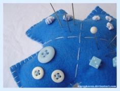 plushies softies felt projects stuffed dolls toy handmade sewing diy soft snuggly karen tiemy blue cross pincushion