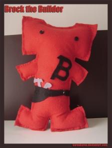 plushies softies felt projects stuffed dolls toy handmade sewing diy soft snuggly karen tiemy brock the builder