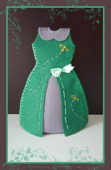 plushies softies felt projects stuffed dolls toy handmade sewing diy soft snuggly karen tiemy green dress