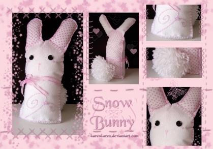 plushies softies felt projects stuffed dolls toy handmade sewing diy soft snuggly karen tiemy white bunny