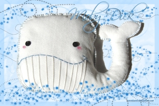 plushies softies felt projects stuffed dolls toy handmade sewing diy soft snuggly karen tiemy white whale