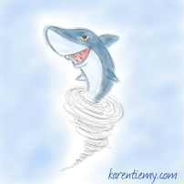 sharknado karen tiemy cute animal drawing kawaii illustration cartoon digital sketches 2