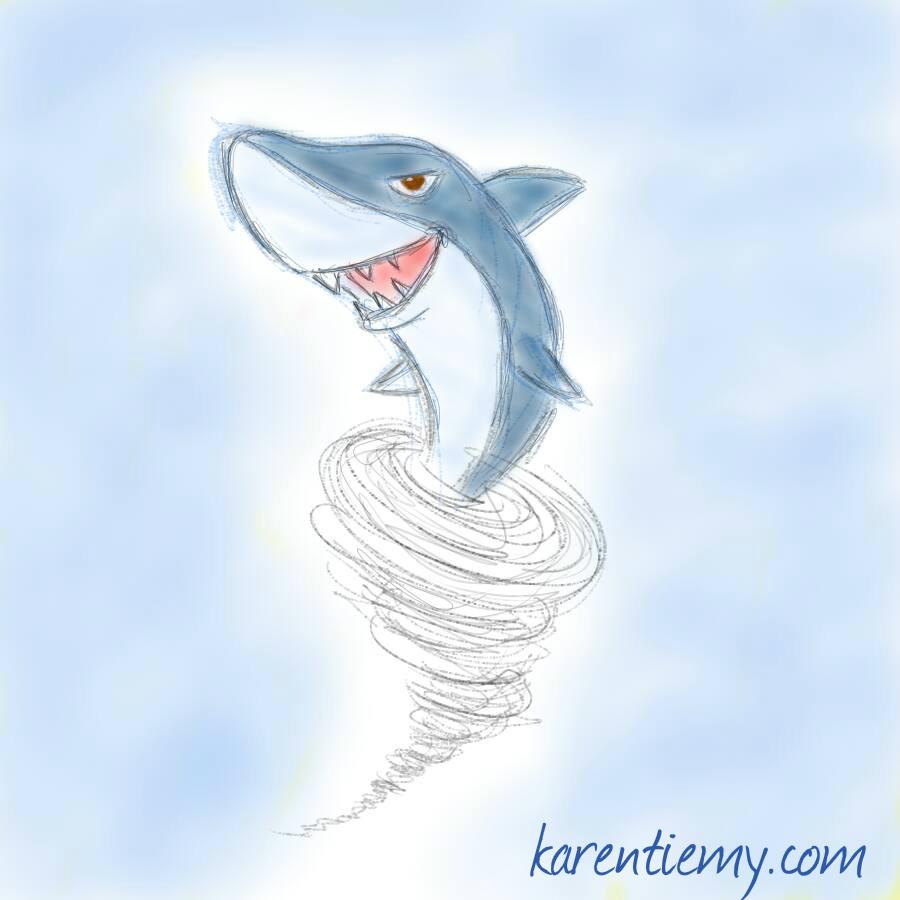 sharknado karen tiemy cute animal drawing kawaii illustration cartoon digital sketches 2