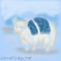 yak karen tiemy cute animal drawing kawaii illustration cartoon digital sketches 2