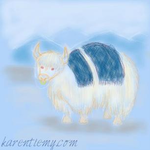 yak karen tiemy cute animal drawing kawaii illustration cartoon digital sketches 2