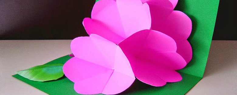 how to make a kirigami pop up flower card paper instruction tutorial