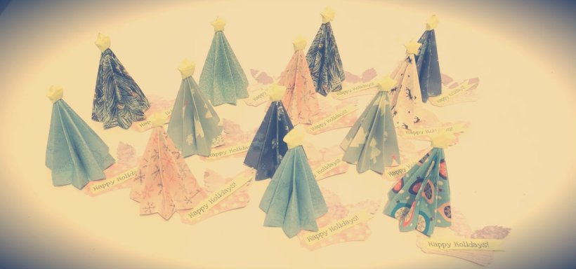 origami christmas tree diy paper easy instructions craft
